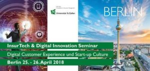 25. / 26.04.2018: 2-Tages HSG-Seminar InsurTech & Digital Innovation in Berlin