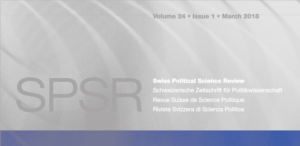 26.03.2018: Beitrag Altersvorsorge in Swiss Political Science Review