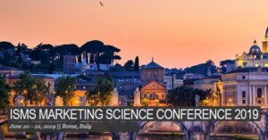20.-22.6.2019: ISMS Marketing Science Conference Rome