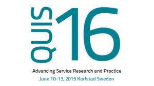 12.6.2019: QUIS16 Symposium – Advancing Service Research and Practice