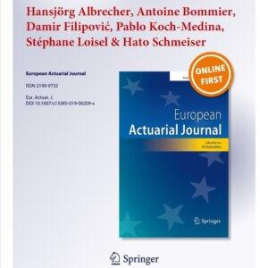 27.06.2019: European Actuarial Journal (EAJ)